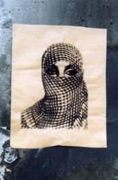 Latent Stare - Screen print on parcel paper, London, England